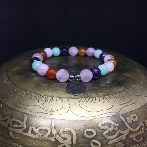 bracelet-boheme-amazonite-cornaline-kunzite-quartz-rose-amethyste