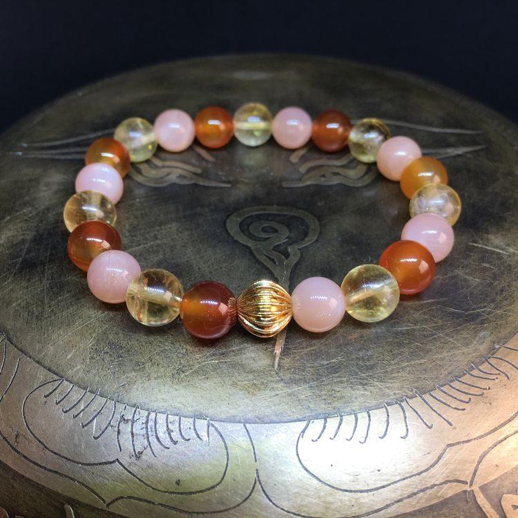 bracelet-joie-bonne-humeur-citrine-cornaline-pierre-de-soleil