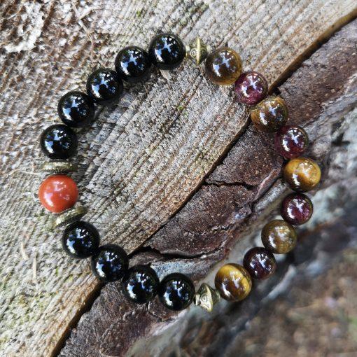 bracelet-automne-grenat-oeil-de-tigre-onyx-jaspe-rouge