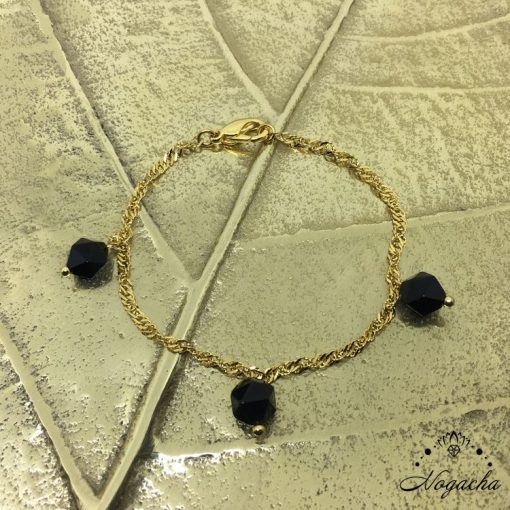 bracelet-dore-inox-onyx-facete