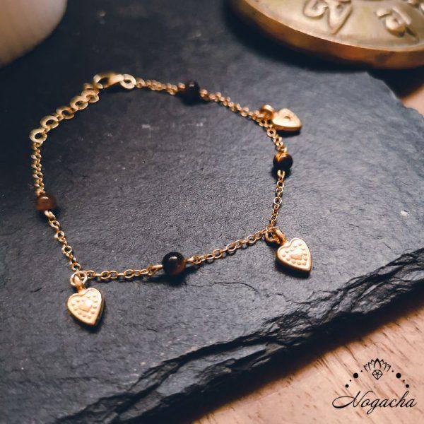 bracelet-coeur-oeil-de-tigre-goldfilled