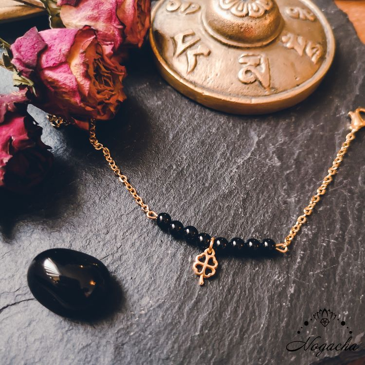 bracelet-chance-trefle-onyx