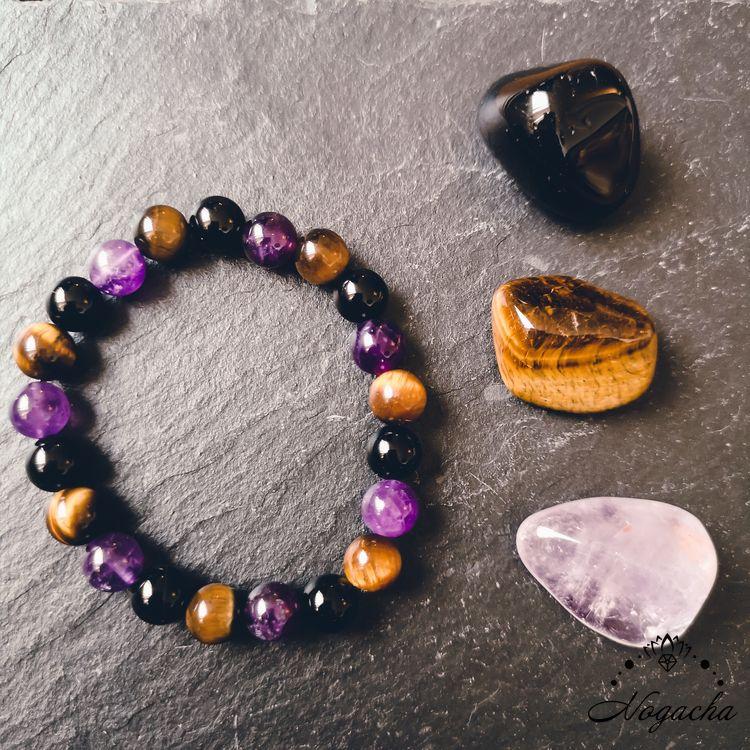 bracelet-pierres-protection-oeil-de-tigre-obsidienne-amethyste
