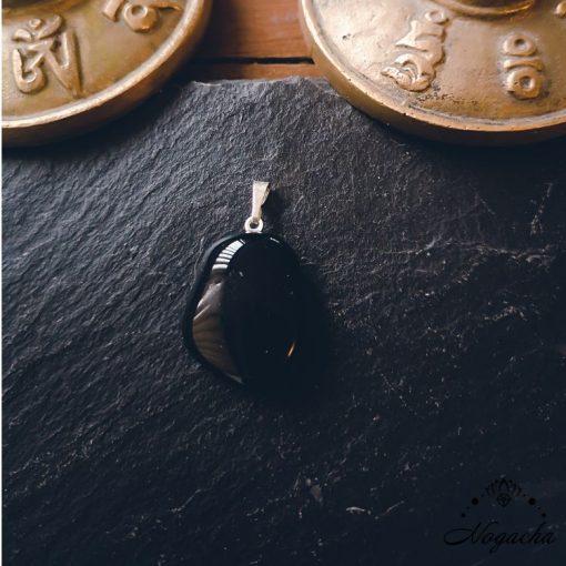 pendentif-obsidienne-noire-pierre-roulee