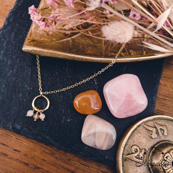 collier-maitia-cornaline-pierre-de-lune-quarz-rose