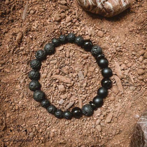 Bracelet-homme-pierre-de-lave-onyx-force