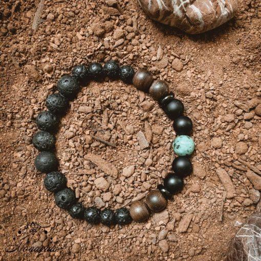 Bracelet-homme-pierre-de-lave-turquoise-africaine-serenite